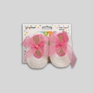 Infant Girl's Crochet Booties - Bows at Kmart.com