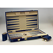 "Sterling Games 18"" BACKGAMMON-NAVY BLUE SUEDE at Sears.com"