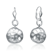 COLLETTE Z Cubic Zirconia (.925) Sterling Silver Rhodium Round Brushed Earrings at Kmart.com