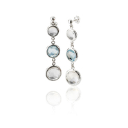 COLLETTE Z Cubic Zirconia (.925) Sterling Silver  Blue Topaz Gem Drop Earrings at Sears.com