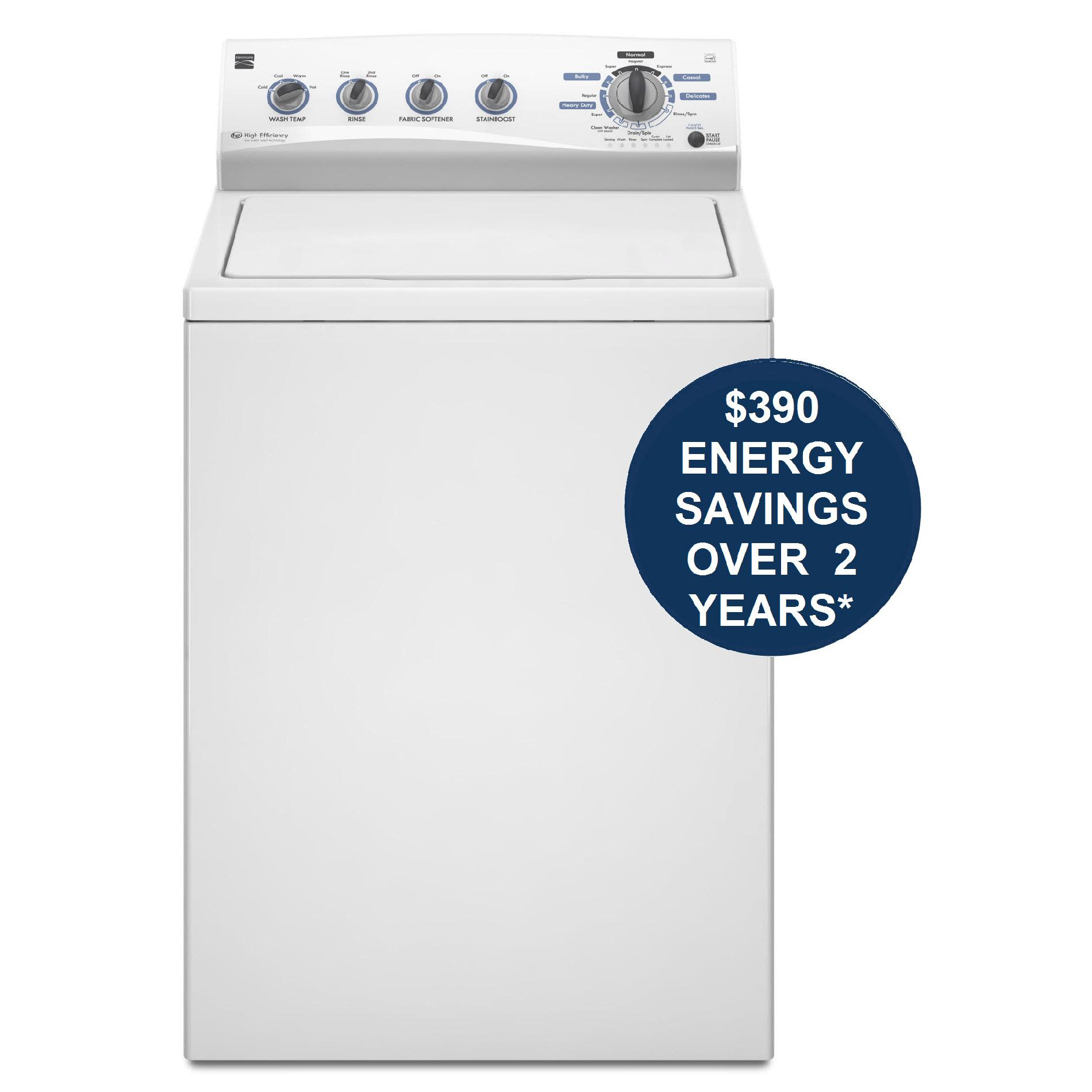 Kenmore 3.6 cu. ft. High-Efficiency Top-Load  Washer - White