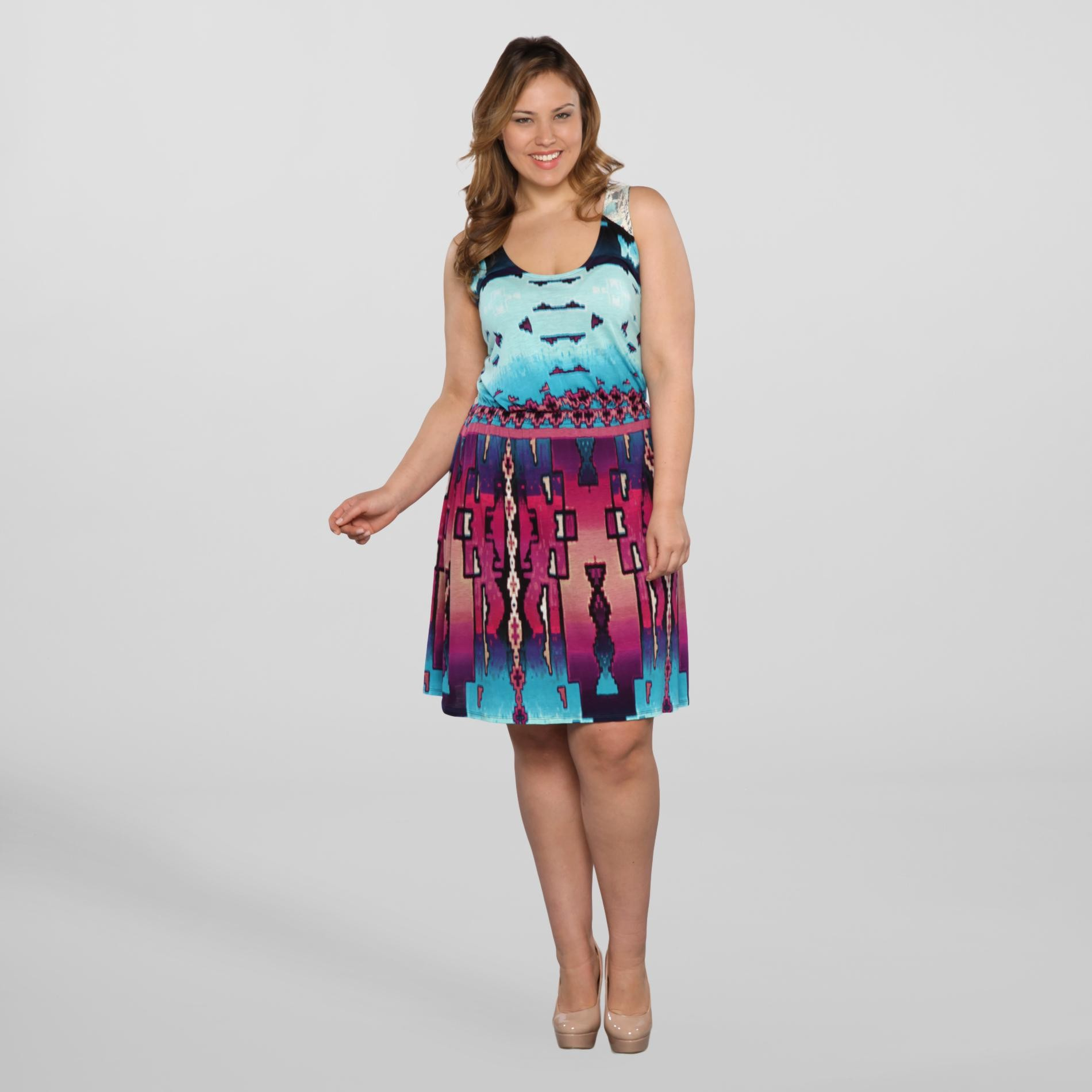 Love Your Style, Love Your Size Women's Plus Tank Dress - Tribal at Kmart.com