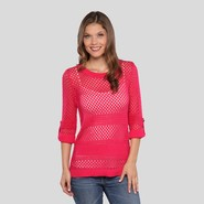 Jaclyn Smith Women's Tabbed Sleeve Sweater at Kmart.com
