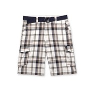 Route 66 Men's Cargo Shorts & Belt - Plaid at Kmart.com