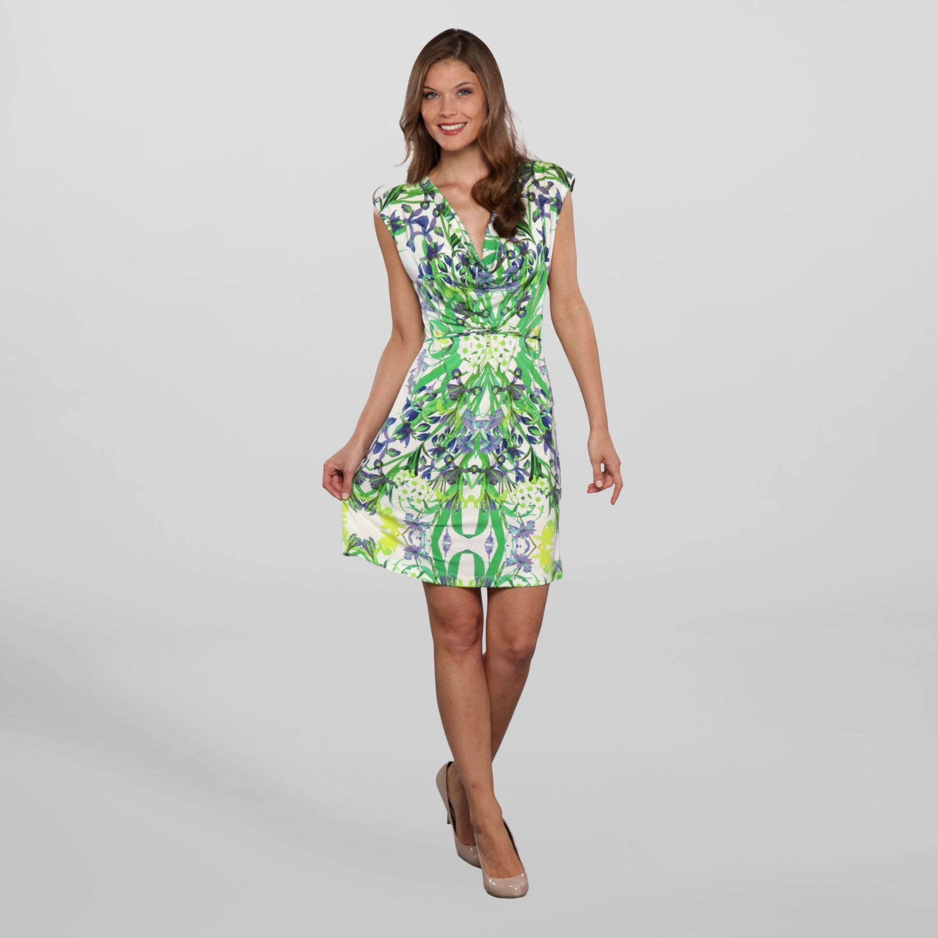 Corey P. Women's Cowl Neck Dress - Floral at Sears.com