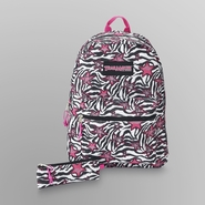Girl's Backpack & Pencil Case - Zebra & Star Print at Kmart.com