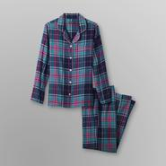 Joe Boxer Women's 2Pc Flannel Pajama Set - Plaid at Sears.com
