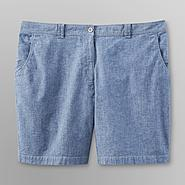 Laura Scott Women's Plus Denim Stretch Shorts at Kmart.com
