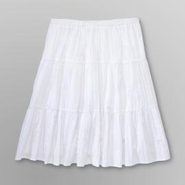 Basic Editions Women's Plus Tiered Crinkle Skirt at Kmart.com