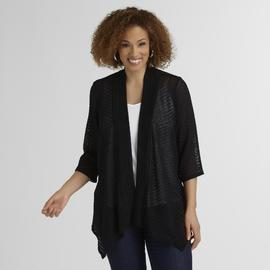 Jaclyn Smith Women's Plus Mesh Cardigan at Kmart.com