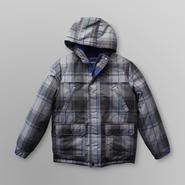 Athletech Boy's Hooded Snowboarding Jacket - Plaid at Sears.com