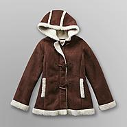 Route 66 Girl's Toggle Coat - Faux Sherpa Fleece at Kmart.com