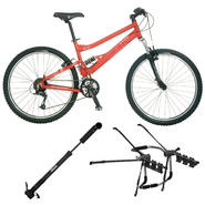 Schwinn Mens Bike with Rack & Pump Bundle            ...
