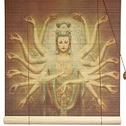 Oriental Furniture Thousand Arm Kwan Yin Bamboo Blinds - (36 in. x 72 in.) at Kmart.com