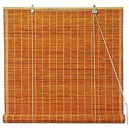 Oriental Furniture Burnt Bamboo Roll Up Blinds - Honey - (60 in. x 72 in.) at Kmart.com