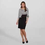 Women's 2 Pc Jacket Dress - Striped at Sears.com
