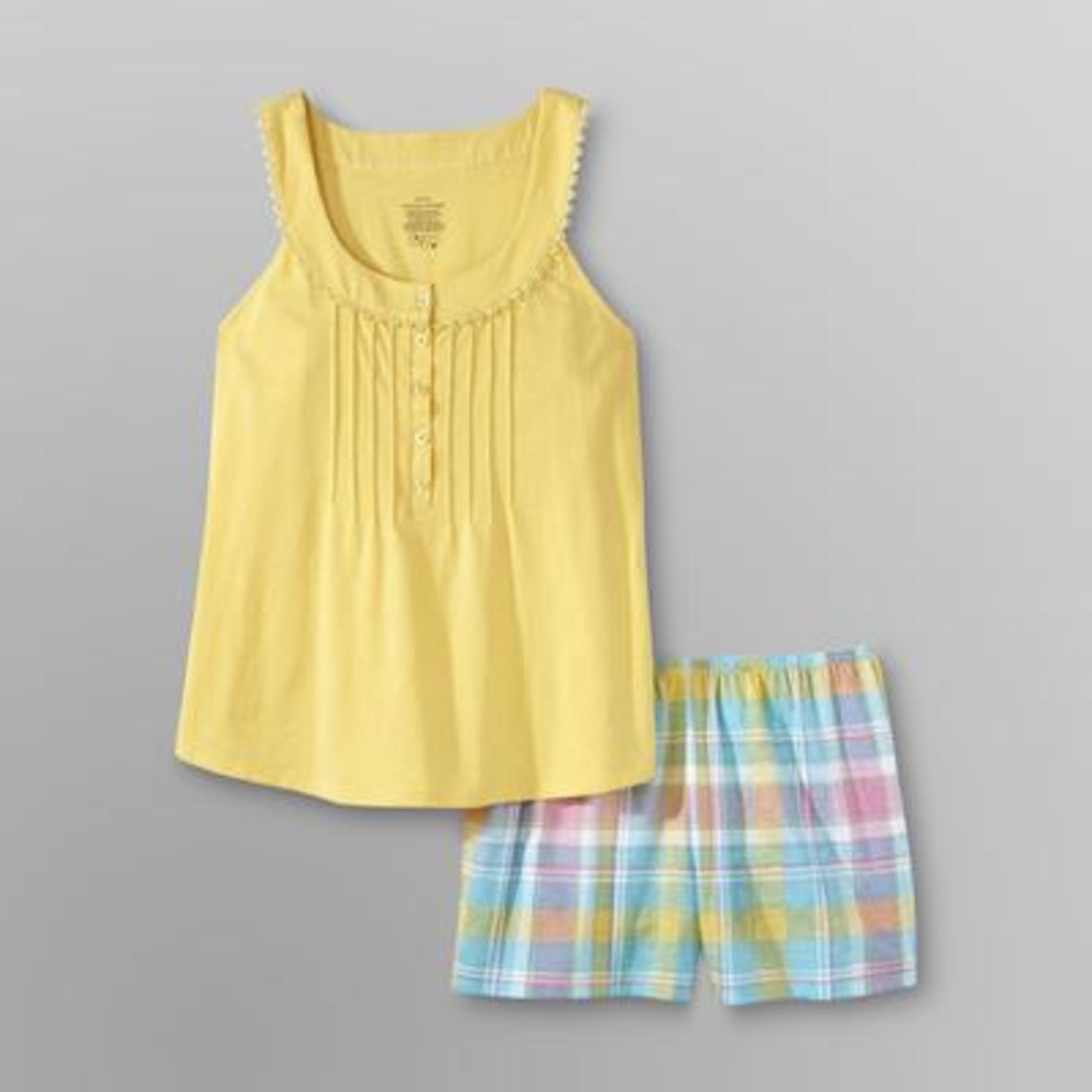 Pink K Women's Plus Short Pajamas - Plaid at Kmart.com