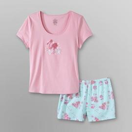 Pink K Women's Plus T-Shirt & Shorts - Flamingos at Kmart.com