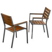 Lanai Natural Poly Wood Outdoor Chairs (Set of 2) at Sears.com