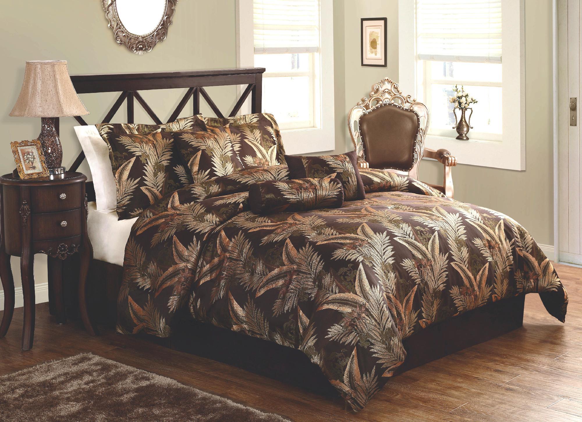 LifeStyles Palms Comforter Set with Bonus Pillows