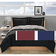 Metro Lux Thermal Nights King Comforter with 2 shams Burgundy / Navy at Kmart.com