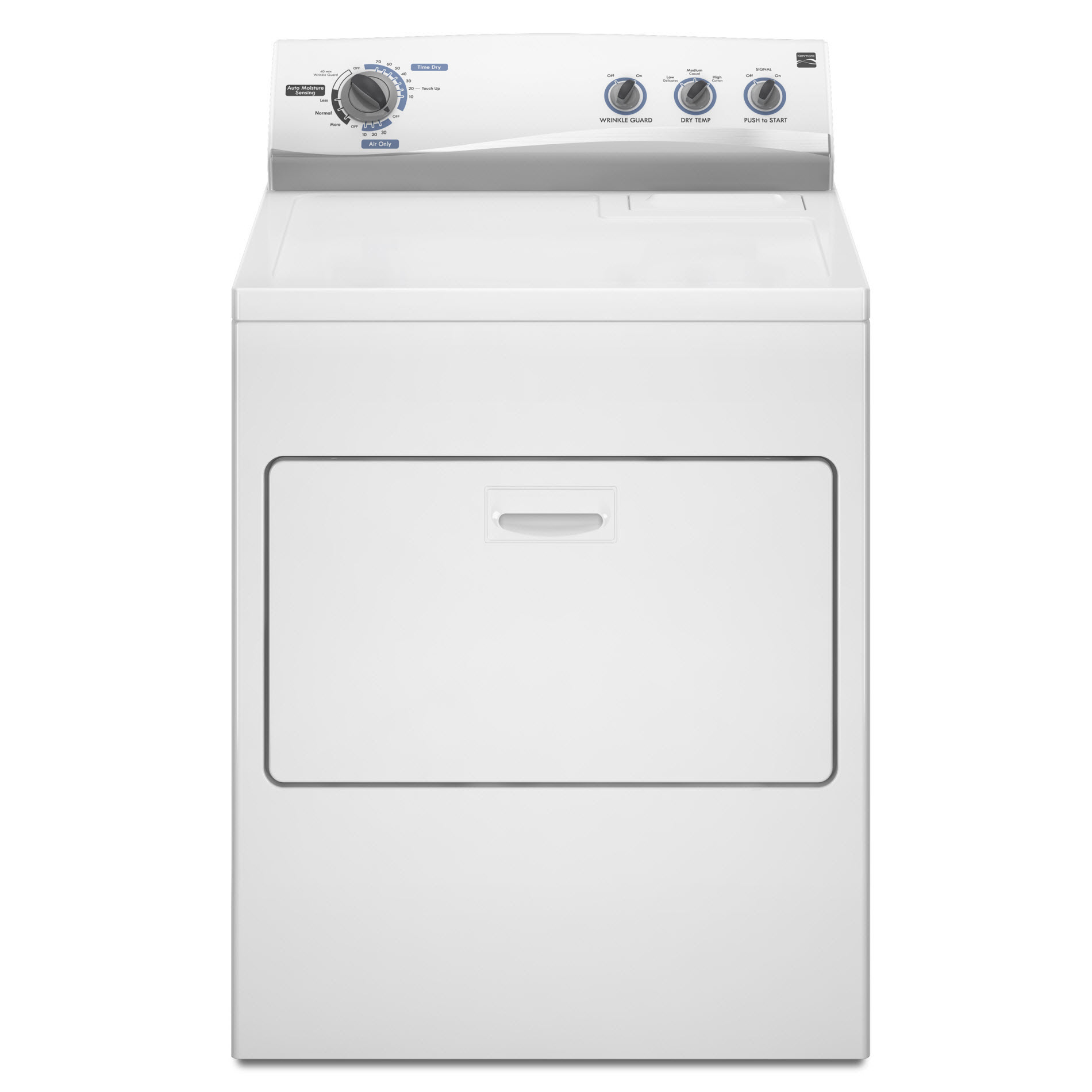 Kenmore 7.0 cu. ft. Electric Dryer - White                                                                                               Kenmore 7.0 cu. ft. Gas Dryer - White