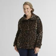 Jaclyn Smith Women's Faux Wool Coat - Leopard Print at Sears.com