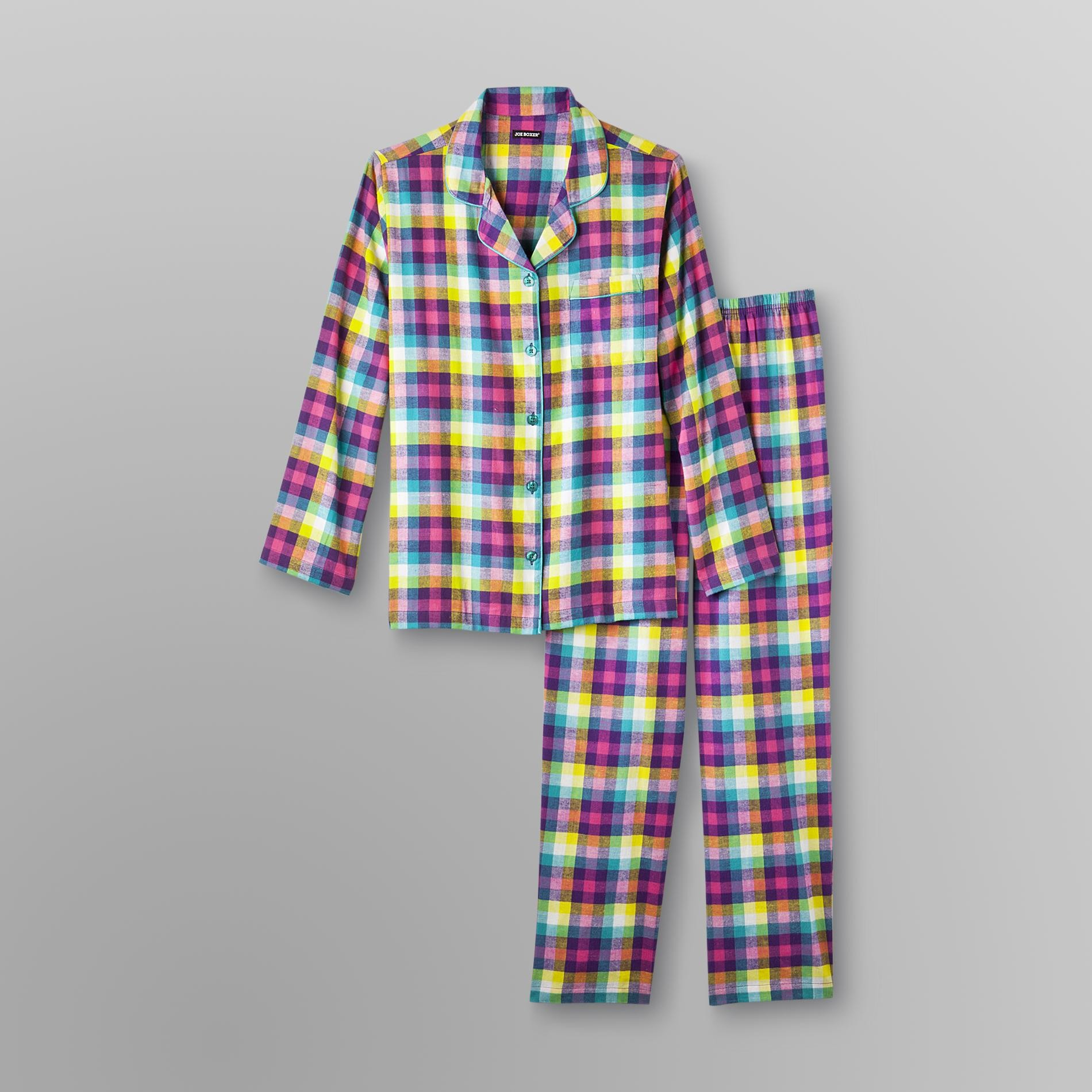 Joe Boxer Women's Flannel Pajamas - Plaid
