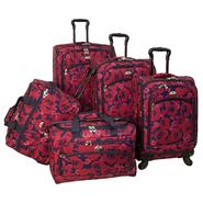 American Flyer Red Rose 5-Pcs Set spinner Luggage in Red at Sears.com
