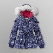 Route 66 Girl's Puffer Coat - Metallic Stars at Kmart.com