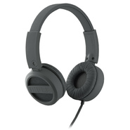 iHOME Rubberized Headphones w/ Adjustable Headband, Flat Cable iB34G Gray at Kmart.com