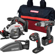 Craftsman 19.2-volt C3 Cordless 4 pc. Combo Kit & Tool Bag Bundle at Kmart.com