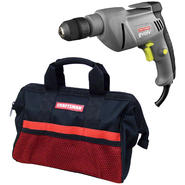 Craftsman 5.2 Amp Corded Drill & Tool Bag Bundle     ...