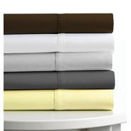 "Tribeca Living Egyptian Cotton Sateen 600 Thread Count 25"" Deep Pocket 6-Piece Sheet Set Queen Steel at Kmart.com"