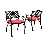 Walker Edison Black Cast Aluminum Patio Dining Chairs (Set of 2) at Kmart.com