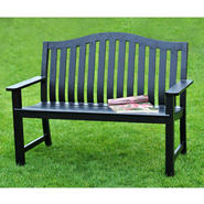 SunJoy Smith Black Bench at Sears.com