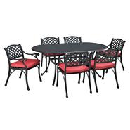 Walker Edison 7-Piece Cast Aluminum Dining Set with Cushions at Kmart.com
