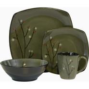 SANGO Blossom Black 16 piece Dinnerware Set at Kmart.com