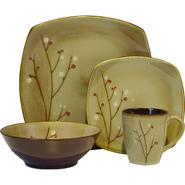 SANGO Blossom Brown 16 piece Dinnerware Set at Kmart.com