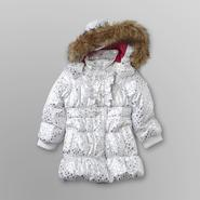 WonderKids Toddler Girl's Puffer Coat - Metallic Diamond Print at Kmart.com