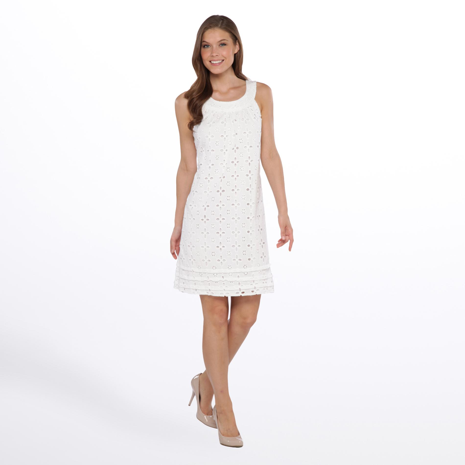Tiana B Women's Shift Dress - Eyelet Embroidered at Sears.com