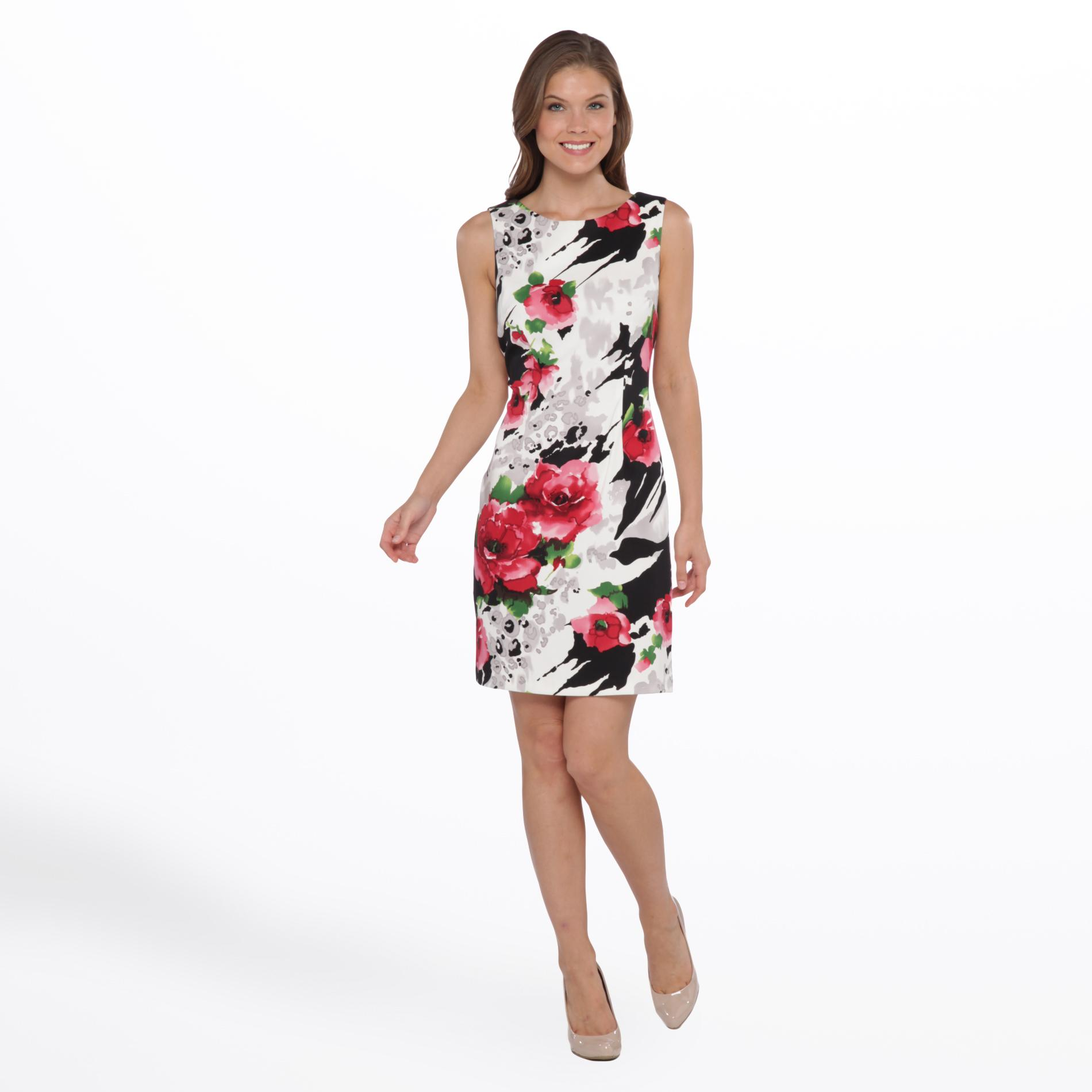 Connected Apparel Women's Party Dress - Floral & Animal Print at Sears.com