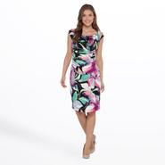 Connected Apparel Women's Knit Dress - Floral at Sears.com