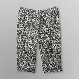 Basic Editions Women's Plus Capri Leggings - Floral at Kmart.com