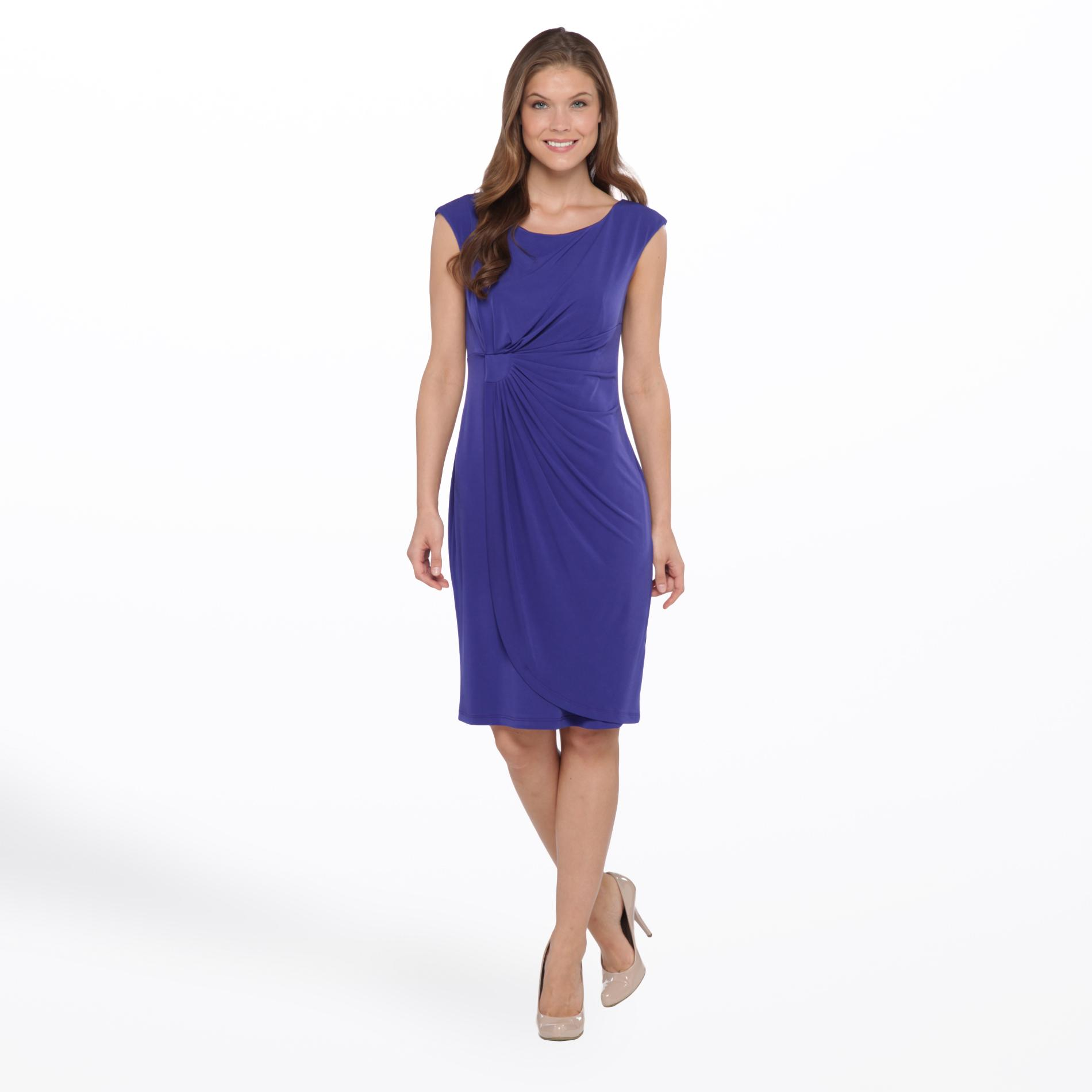 Connected Apparel Women's Knit Dress - Gathered at Sears.com