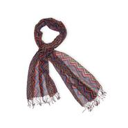 Joe Boxer Women's Fringe Scarf - Zigzag Striped at Kmart.com