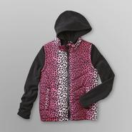 Athletech Girl's Hooded Jacket - Leopard Print at Kmart.com