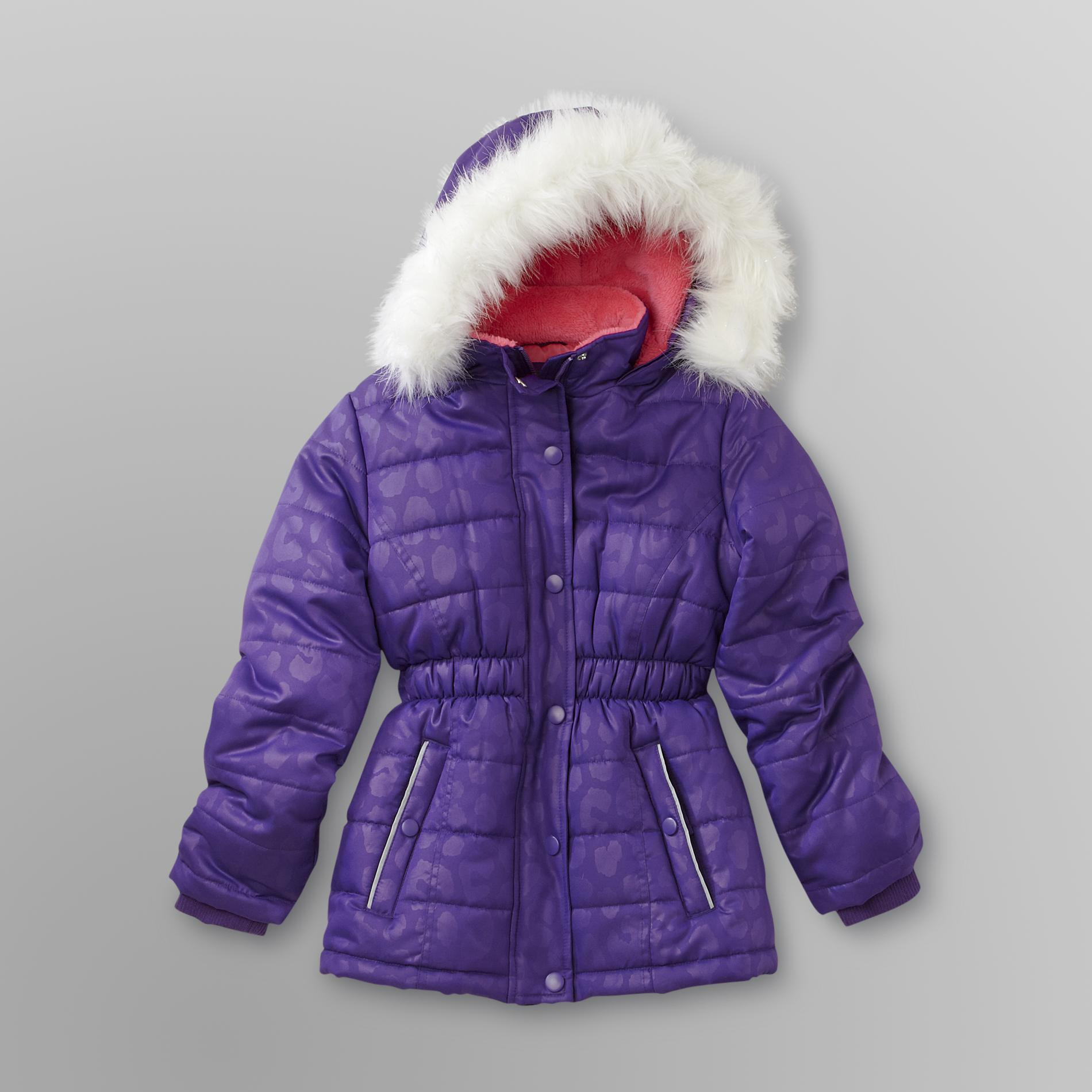 Athletech  Girl's Hooded Puffer Coat