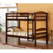 Walker Edison Solid Wood Twin Espresso Bunk Bed at Sears.com