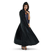 Totally Ghoul Black Velvet Panne Adult Robe at Kmart.com